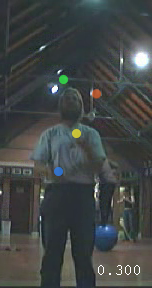 Jochen Voss, Juggling in the Cryfields sports pavilion