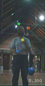 Jochen Voss, Juggling in the Cryfields sports pavilion
