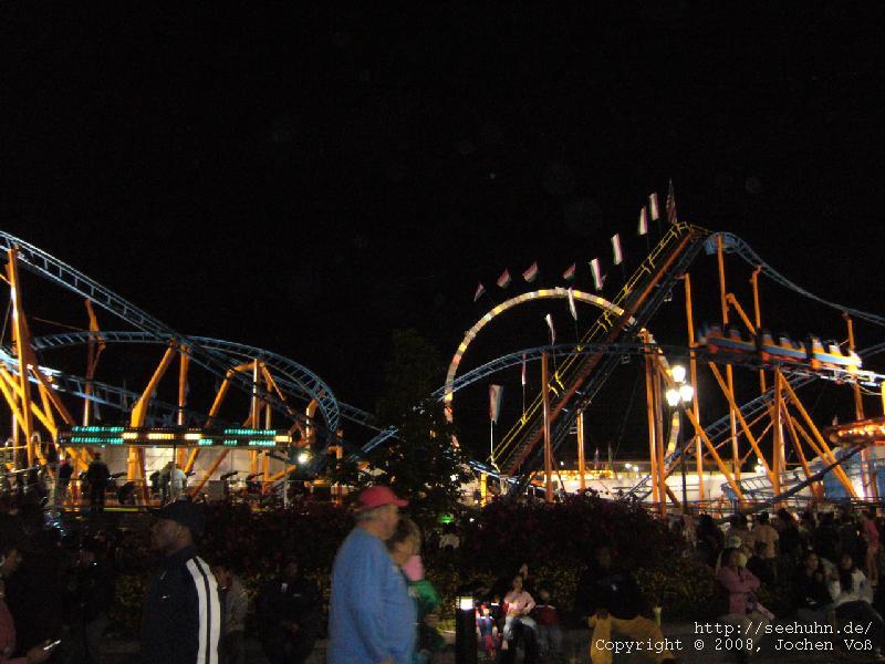 [roller coaster in the dark]