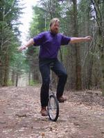 [Jochen on his unicycle]