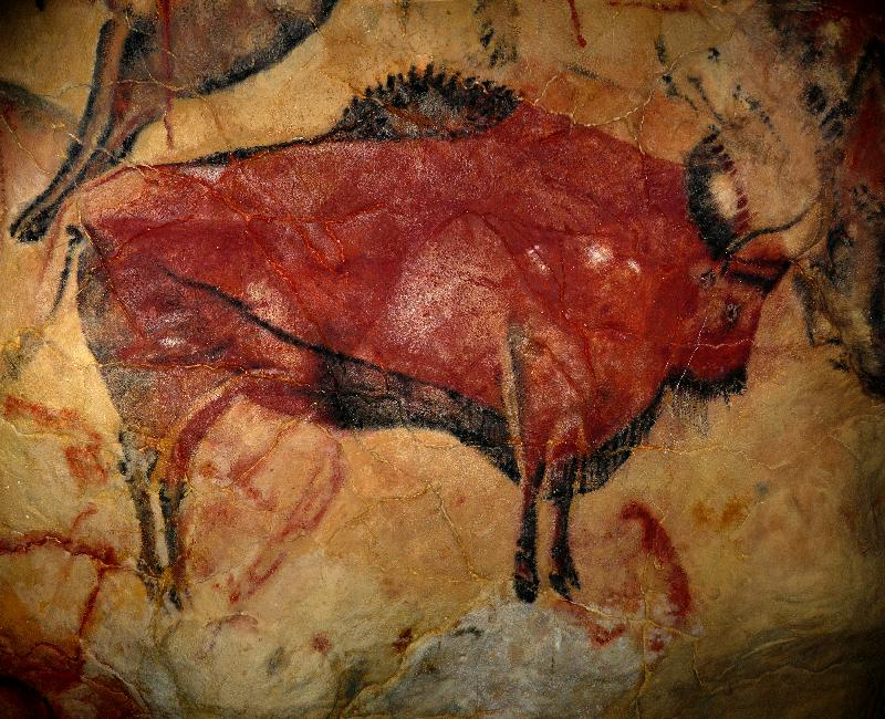 [cave painting of a wisent]
