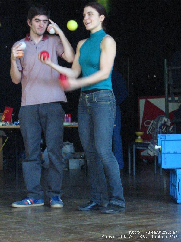 [some jugglers]